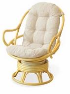Кресло вращающееся 05-01 из ротанга